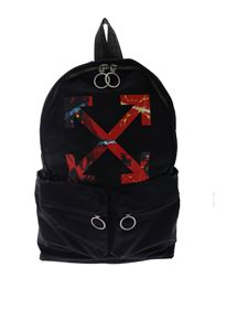 Off-White - Arrow black backpack with multicolor logo