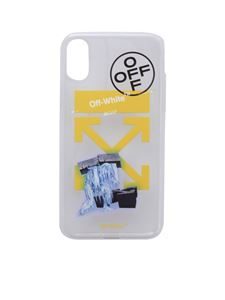 Off-White - Cover Ice Man trasparente per iPhone X