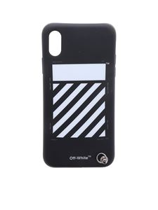Off-White - Black and white Diag cover for iPhone X
