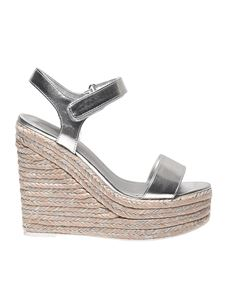 Kendall + Kylie - Silver leather Grand sandals