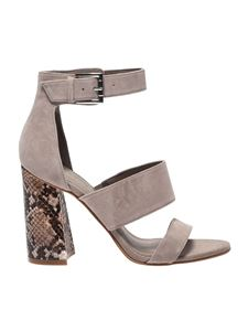 Kendall + Kylie - Taupe Jayne2 sandals with python heel
