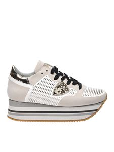 Philippe Model - Beige and white Eiffel sneakers