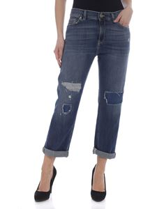 Dondup - Paige destroyed effect jeans in blue