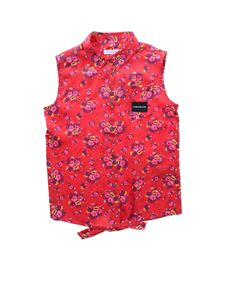 Calvin Klein Jeans - Red sleeveless top with flowers