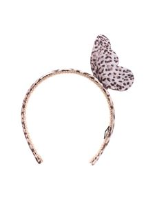 Monnalisa - Headband with animalier butterfly pattern