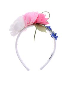 Monnalisa - Monnalisa white headband with flowers