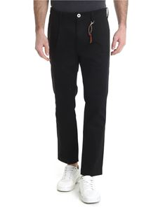 Ribbon Clothing - Black trousers with front pleats