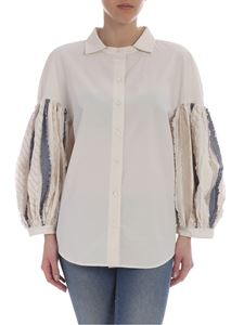 Pence - Beige Tulia shirt with puffed sleeves