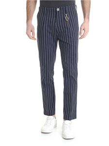 Ribbon Clothing - Pantalone blu motivo a righe
