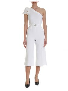 Elisabetta Franchi - White one-shoulder jumpsuit