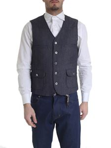 Ribbon Clothing - Blue and white waistcoat with stripes