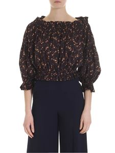 Vivienne Westwood Anglomania - Brown blouse with floral print
