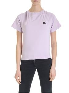 Vivienne Westwood Anglomania - Lilac T-shirt with Arm & Cutlass logo