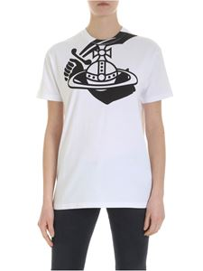 Vivienne Westwood Anglomania - White T-shirt with Arm & Cutlass logo