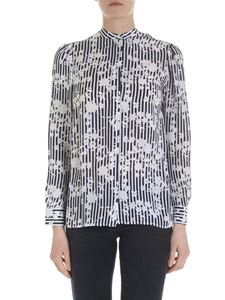 Michael Kors - Blue shirt with contrasting pattern
