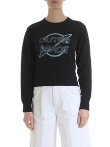 Rag & Bone - Black sweatshirt with Outer Space embroidery