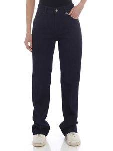 MM6 by Maison Martin Margiela - Dark blue palazzo jeans with pleats