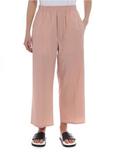 MM6 by Maison Martin Margiela - Pink cropped palazzo trousers