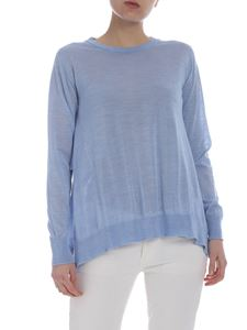 Semicouture - Light blue shirt with side vents