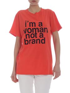 Erika Cavallini - I'm A Woman Not A Brand t-shirt in orange