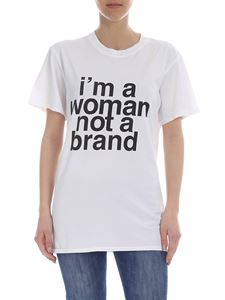 Erika Cavallini - I'm A Woman Not A Brand t-shirt in white