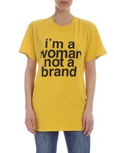 Erika Cavallini - I m A Woman Not A Brand t-shirt in yellow