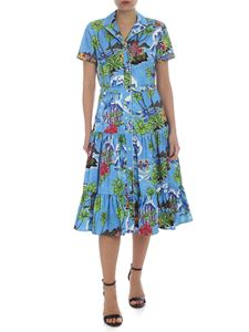 Stella Jean - Hawaii dress with check pattern
