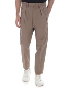 Incotex - Mud-colored trousers with pleats
