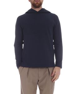 Zanone - Blue hooded sweatshirt