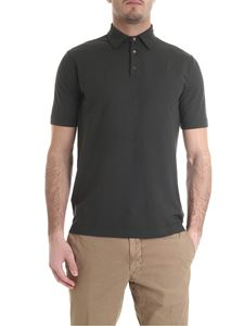 Zanone - Dark green polo in ice cotton