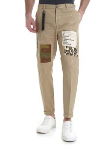 Dsquared2 - Beige chino trousers with spots of color