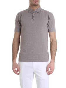 Zanone - Mud and white polo with for buttons