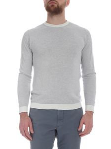 Zanone - Gray and white pullover in pique