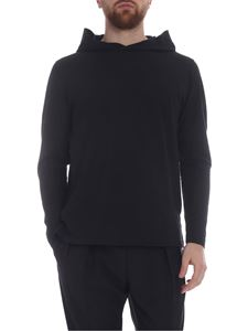 Zanone - Black hooded sweatshirt