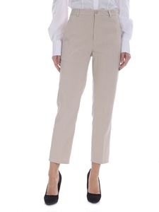Dondup - Rothka cream and beige striped trousers