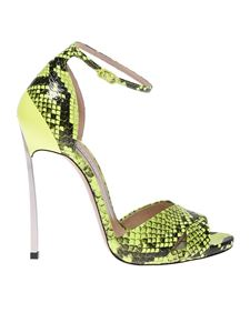 Casadei - Blade ankle strap sandals animalier yellow