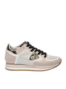 Philippe Model - Tropez H sneakers in pink leather and fabric