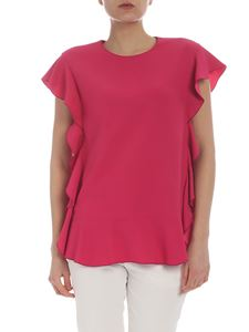 Red Valentino - Fuchsia top with flounces detail