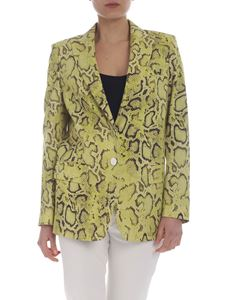 Pinko - Yellow and brown Dorotea lined jacket