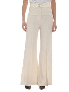 Patrizia Pepe - Palazzo trousers in ivory white color