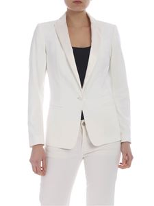Dondup - Lined jacket in ivory white