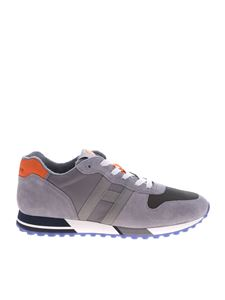 Hogan - Grey H383 sneakers with orange detail