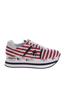 Premiata - Beth ice and red sneakers