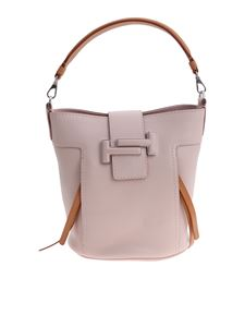 Tod's - Powder pink leather Double T bag