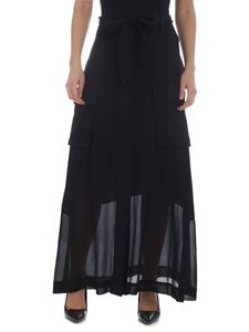 Pinko - Black Emanuela viscose skirt