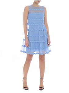 Red Valentino - Sleeveless dress in light blue tulle