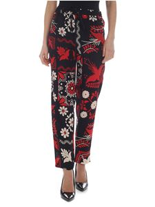 Red Valentino - Black trousers with decorative print
