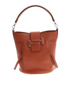 Tod's - Brown leather Double T bag