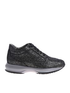 Hogan - Black and silver Interactive H sneakers