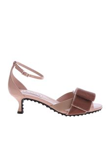 Tod's - Pink sandals with velvet bow